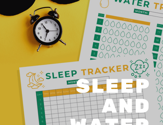 {Free printable} Sleep and Water tracker