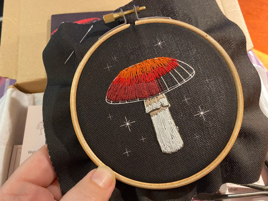 embroidered toadstool