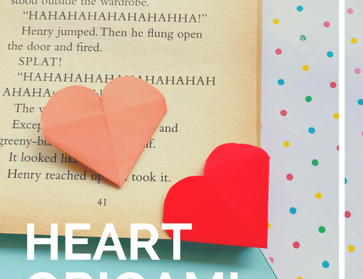 Fold a Valentine paper heart origami bookmark