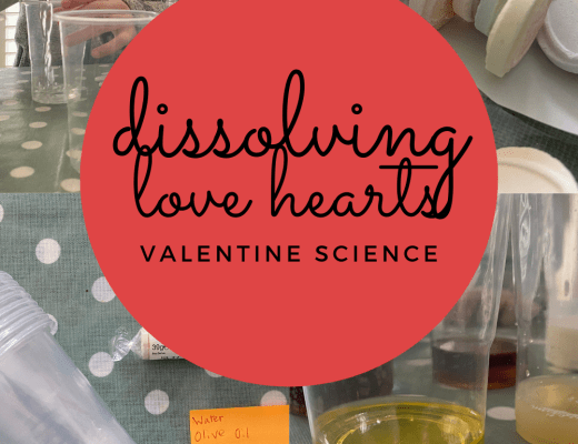 Dissolving Love Hearts Valentine science