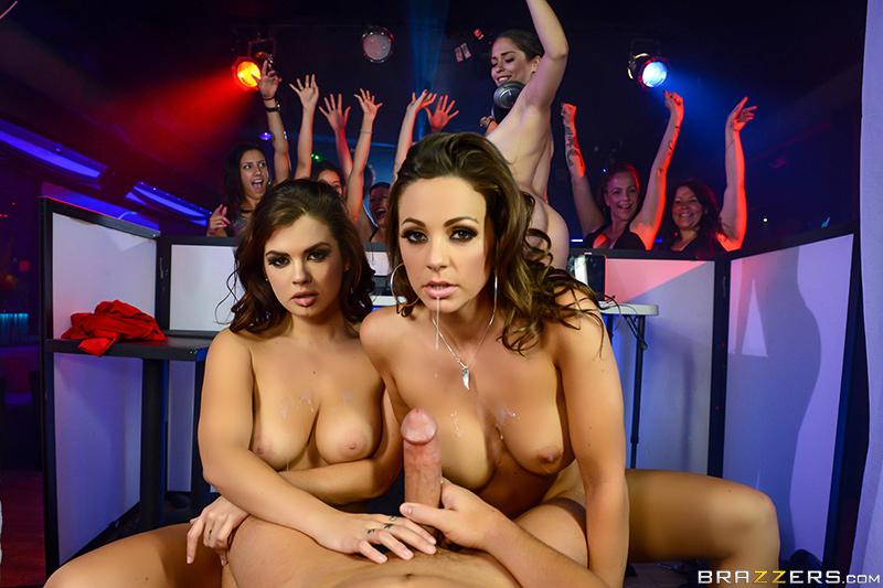 The Joys of DJing scene starring Abigail Mac Keisha Grey and Jessy Jones Threesome XXX