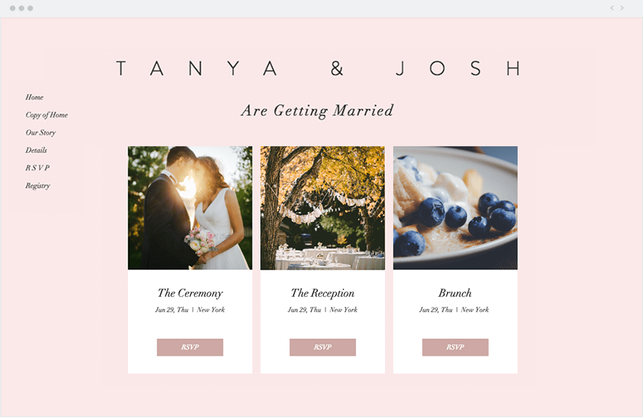 How to Create the Perfect Wedding Website Wix Events   Organize all your events like a pro