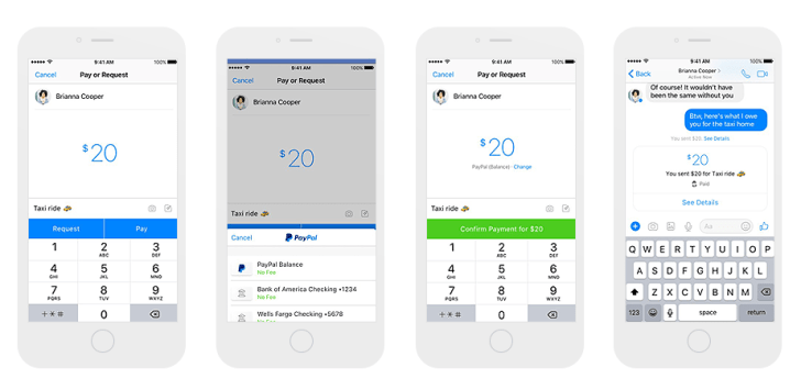New Facebook feature: transfer money to your friends via PayPal