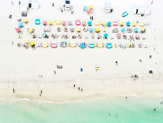 Aerial picture of Miami beach by Wix Photographer Joshua Jensen-Nagle