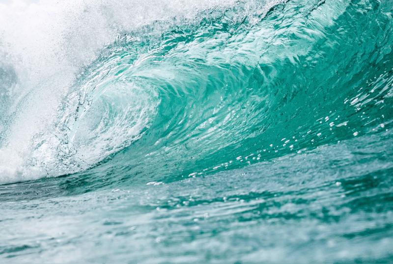 perfecte turquoise zeegolf