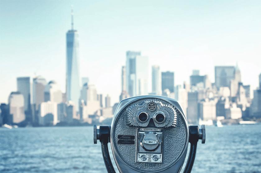 weergave van Manhattan uit New Jersey