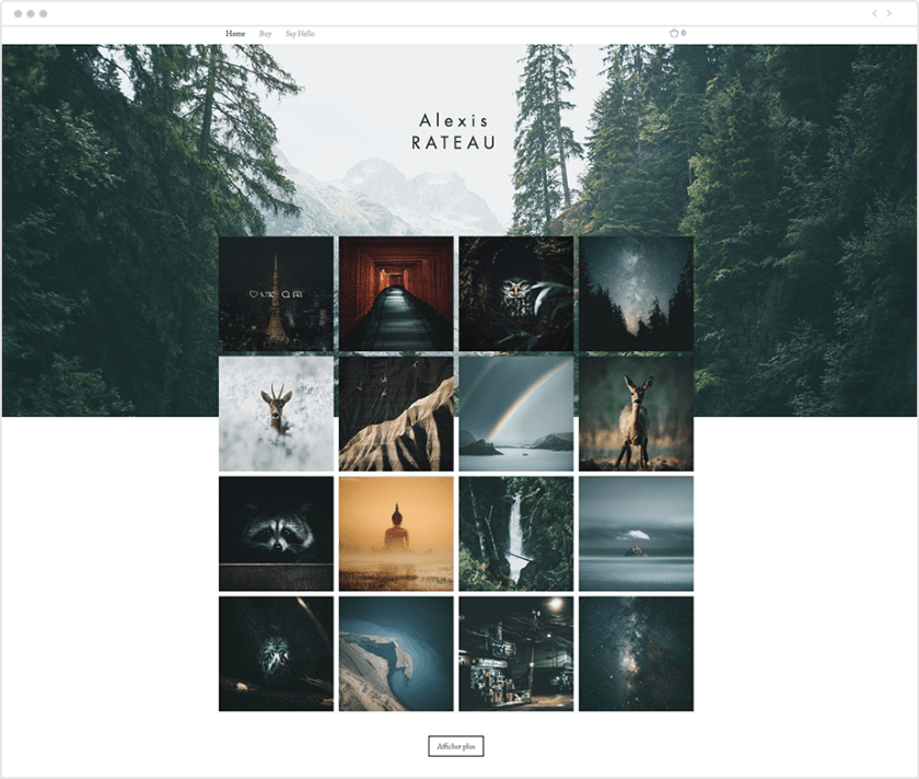 esthetische Instagram-feed als portfolio