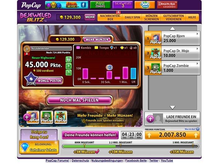 Games Bejeweled Blitz Facebook