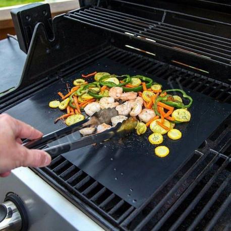 feuille de cuisson antiadhesive et reutilisable pour barbecue bbq et four