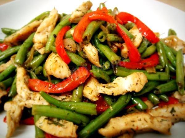 Вкусный блог: Салаты со стручковой фасолью рецепты