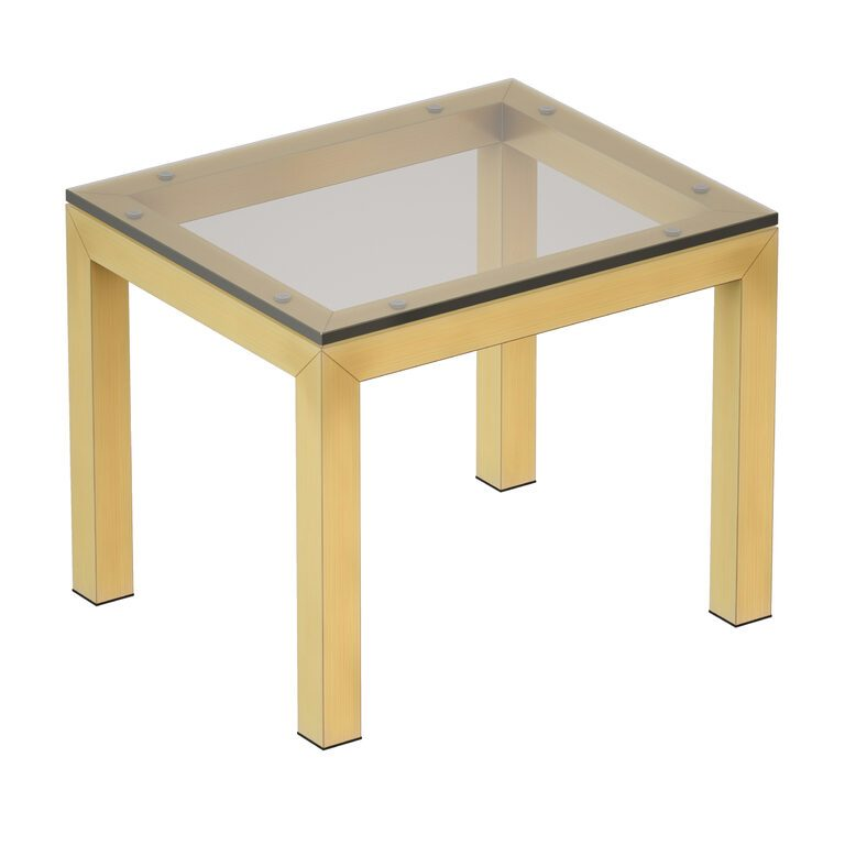 parsons clear glass top brass base end table crate and barrel 3d model download 3d model parsons clear glass top brass base end table crate and