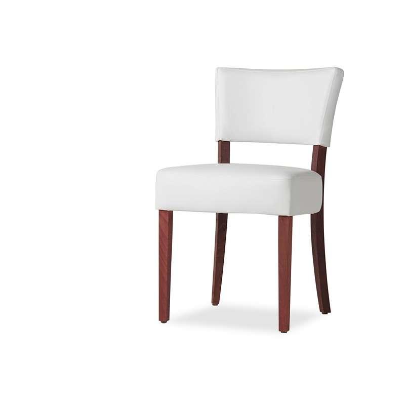chaise de salle a manger en bois et synthetique steffi