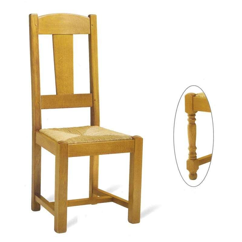 chaise de salle a manger en bois rustique fabrication francaise 740 742