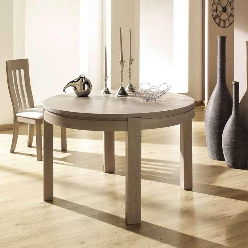 table ronde de salle a manger en bois extensible fabrication francaise tapana