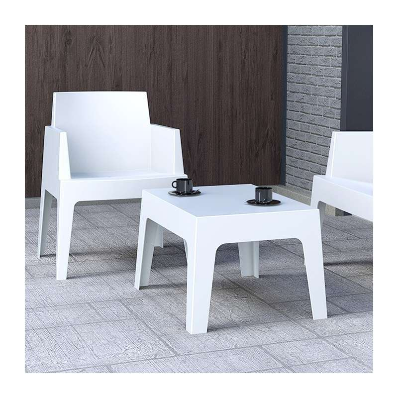 table basse de jardin en polypropylene box