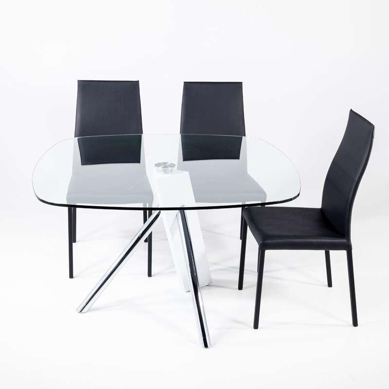 table en verre design carre tundra 120 cm x 120 cm