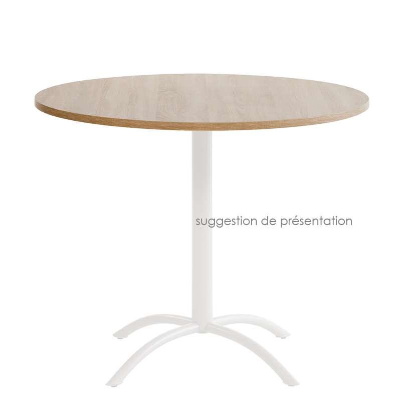 plateau de table rond ou carre en stratifie