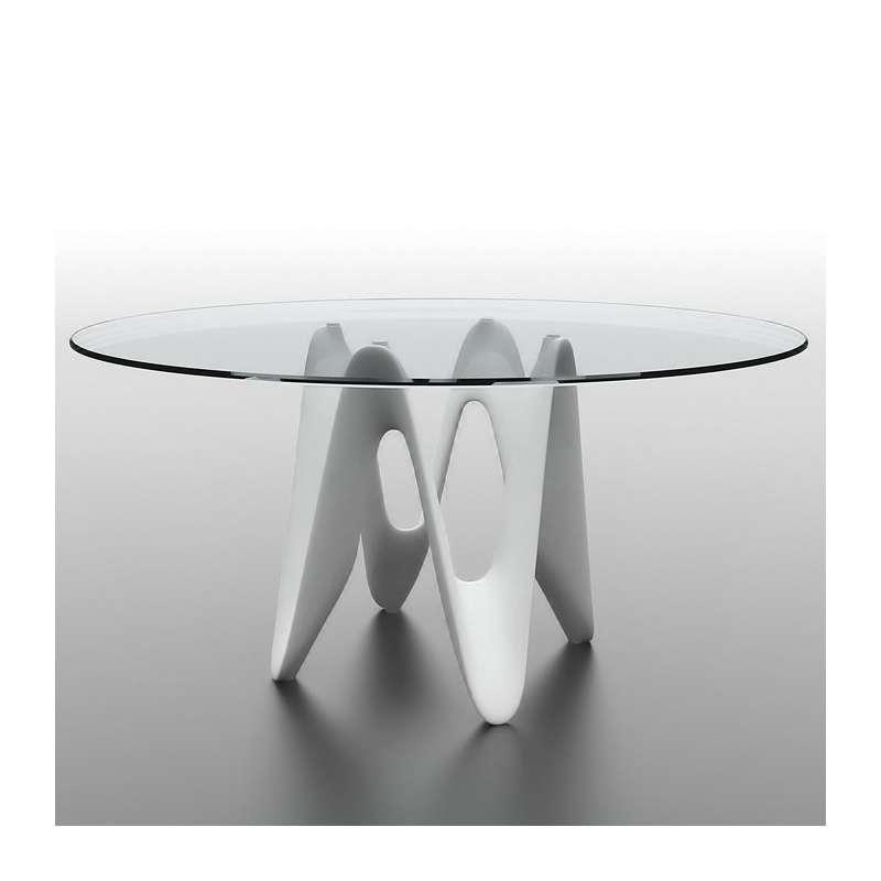 table ronde design en verre lambda sovet