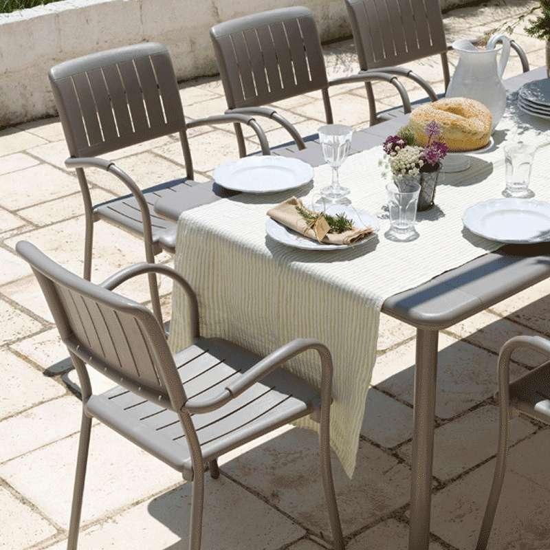 fauteuil de jardin en polypropylene et aluminium musa