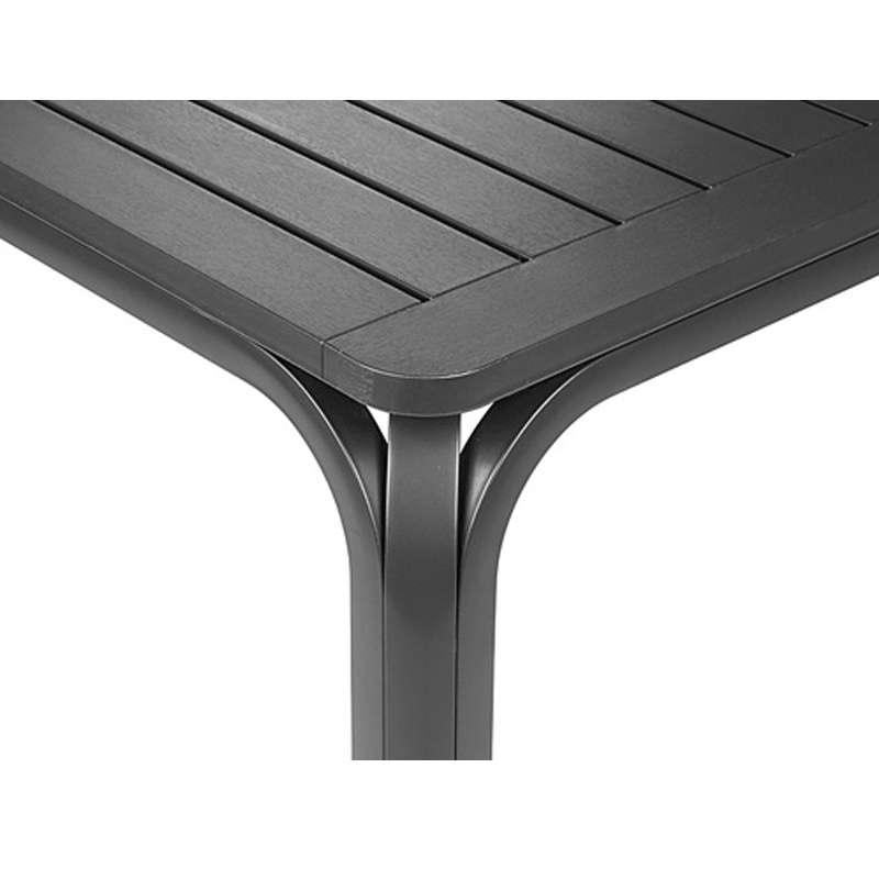table de jardin extensible en polypropylene et aluminium alloro