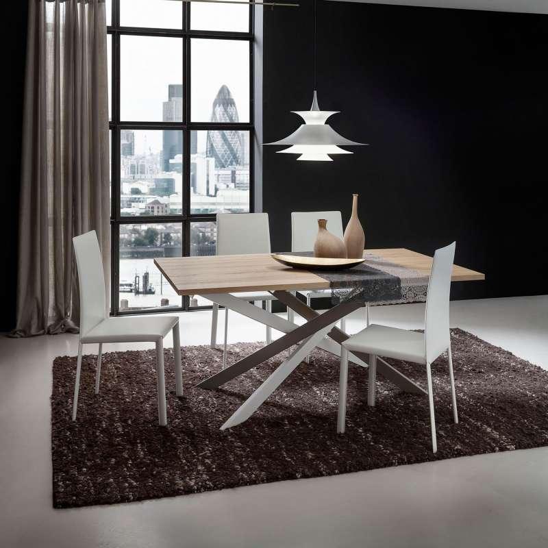 table de salle a manger design en stratifie renzo