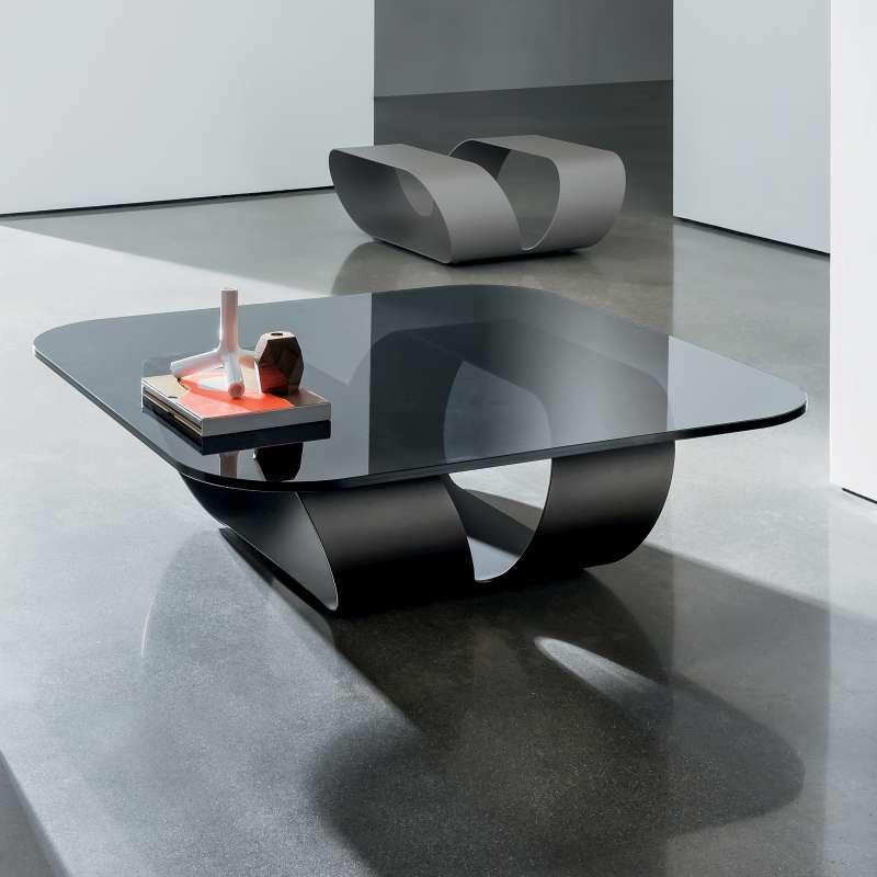 table basse design en verre ring sovet