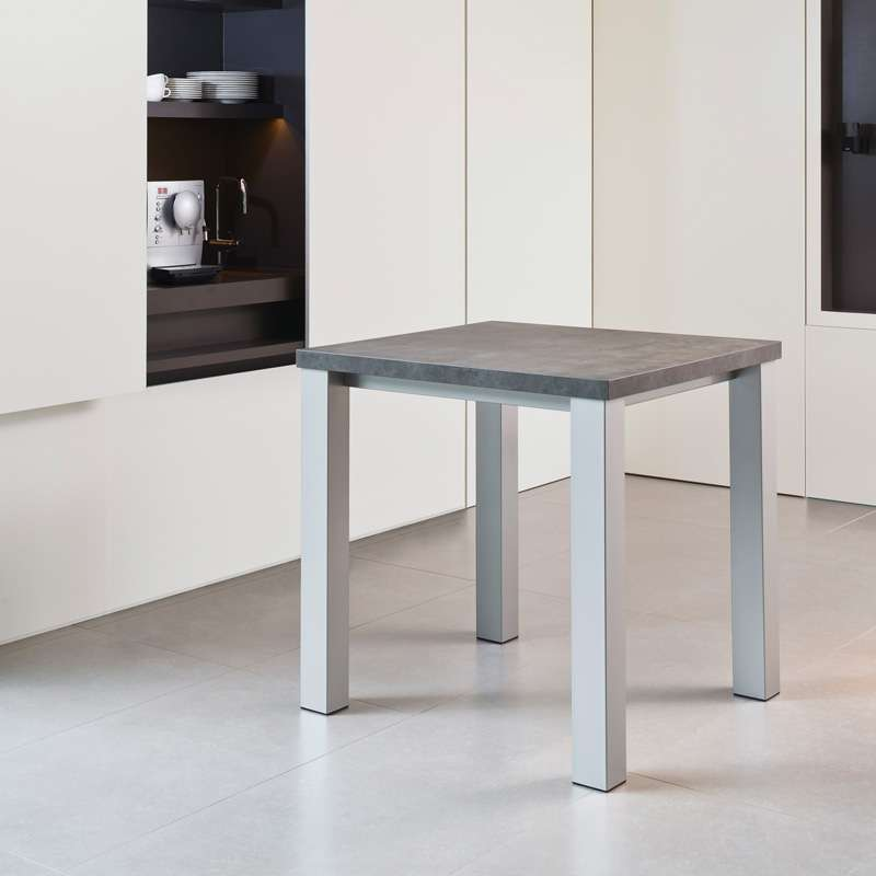 table de cuisine carree en stratifie quadra