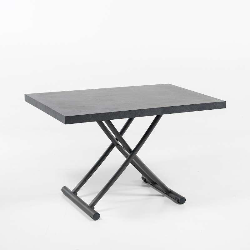 table basse relevable petit espace en melamine geniale