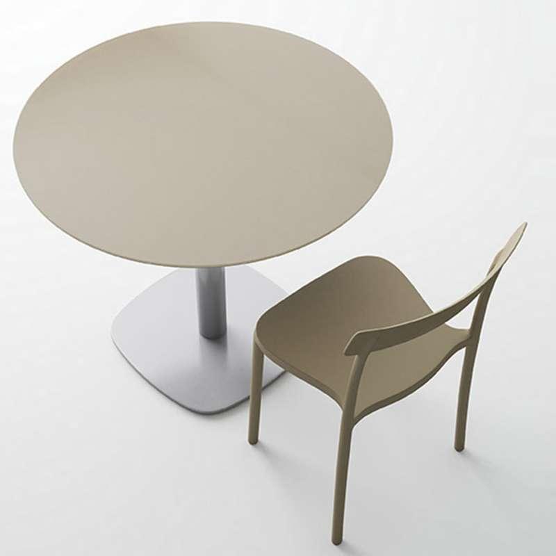 table de cuisine ronde en verre petit espace circus