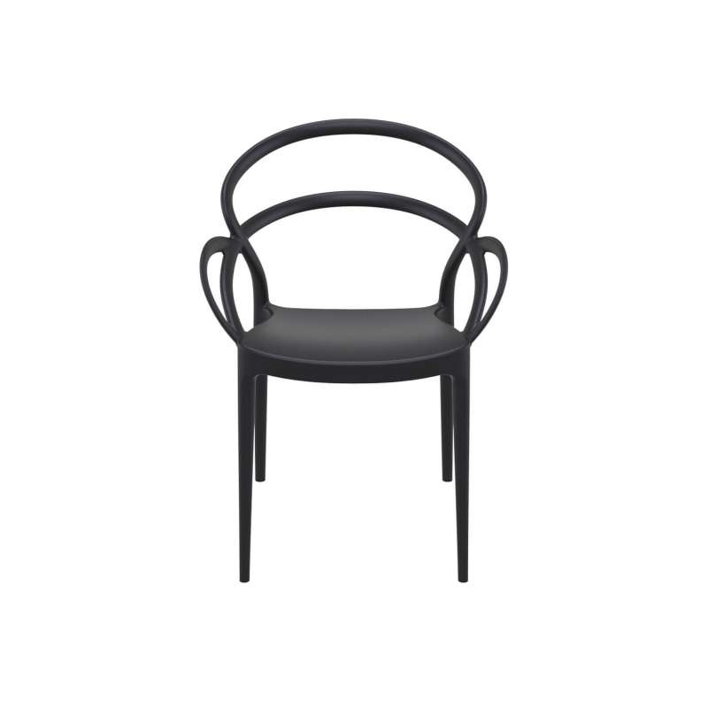fauteuil de jardin design en polypropylene mila