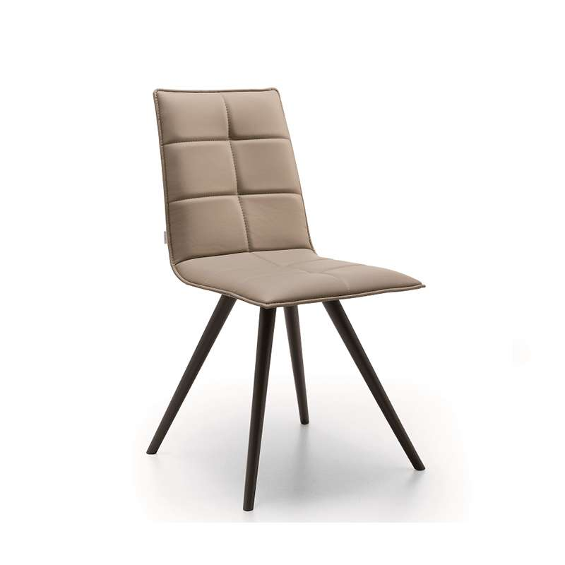 chaise de salle a manger moderne en synthetique matelasse et metal gliris
