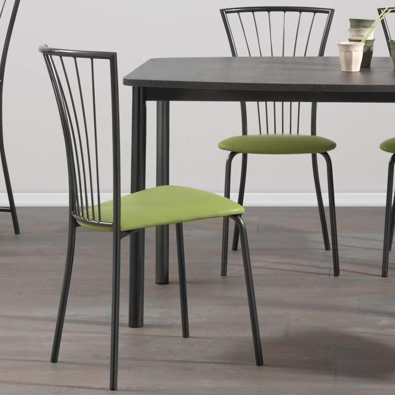 chaise de cuisine rembourree avec pieds metal jana