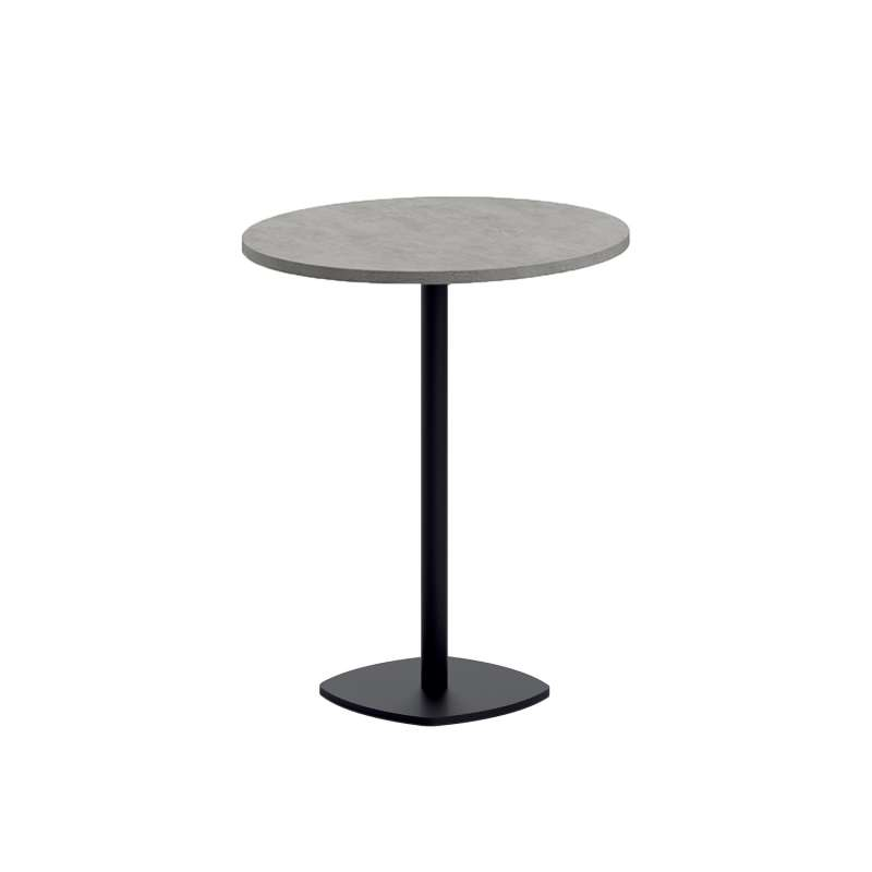 table snack de cuisine ronde en stratifie diametre 70 cm avec pied central circa