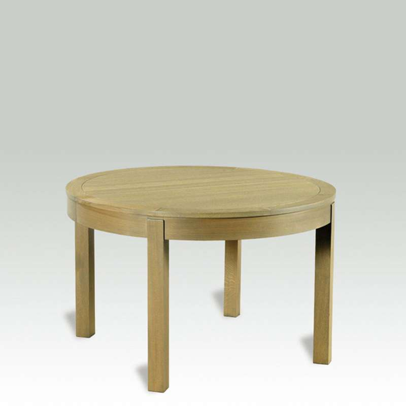 table ronde en bois massif avec allonges moderne mr
