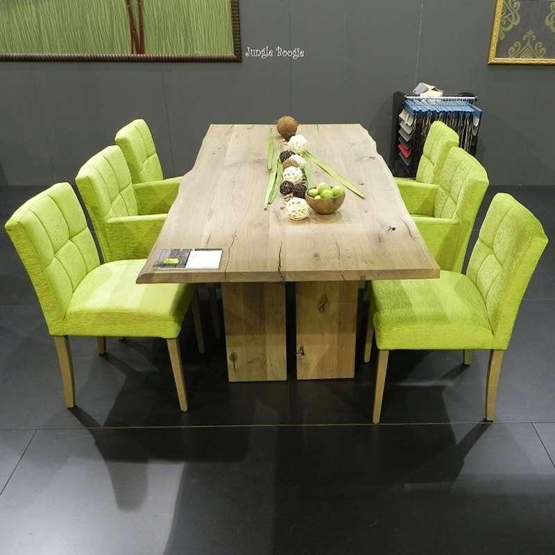 table de salle a manger moderne en bois massif rustique amazone mobitec