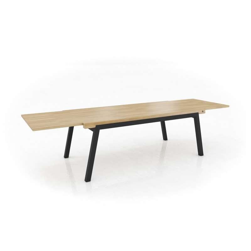 table moderne en bois extensible avec pieds en metal london mobitec