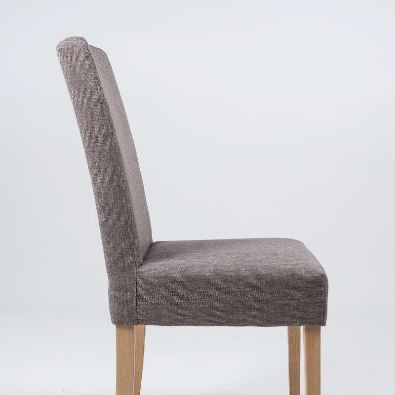 chaise de salle a manger en tissu et bois massif gaby mobitec