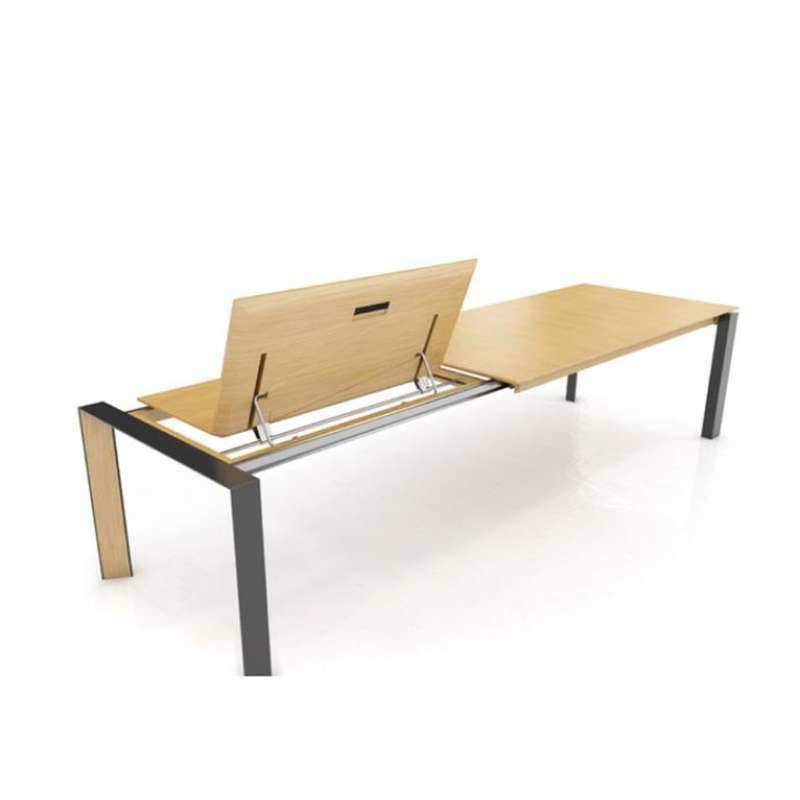 table moderne extensible en bois massif et metal oxford pb3 mobitec