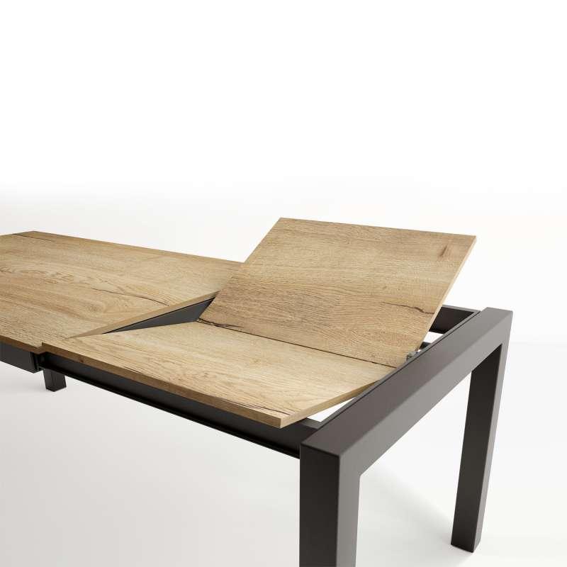 table extensible en stratifie et pieds en metal tokio