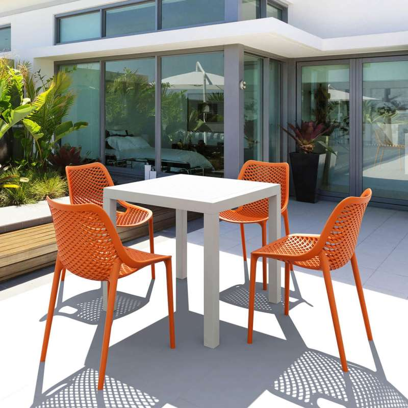 table de terrasse carree en resine ares