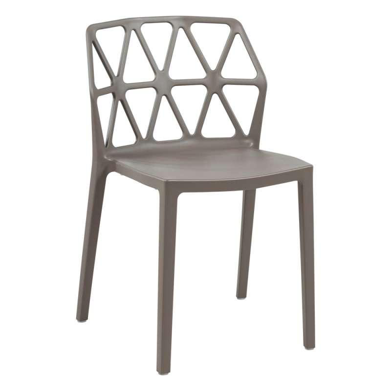 chaise de jardin design empilable en polypropylene alchemia connubia