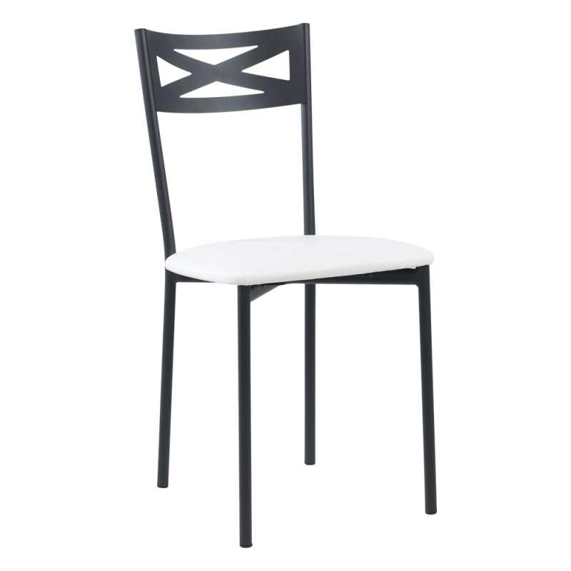 chaise de cuisine contemporaine en metal assise rembourree kelly