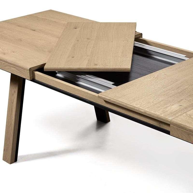 table de salle a manger en bois extensible avec pieds obliques dublin