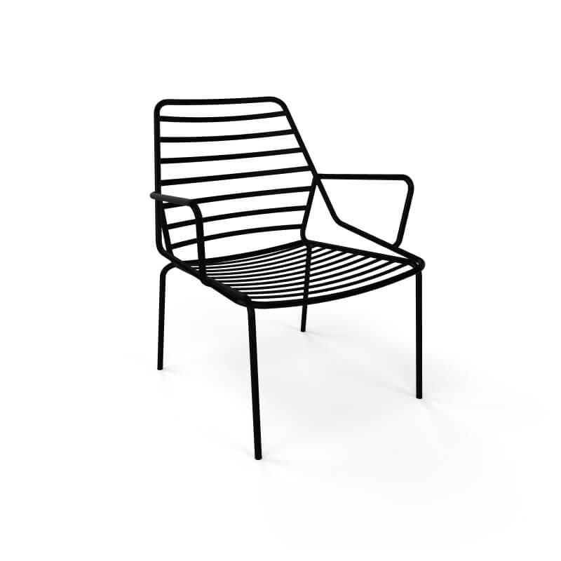 fauteuil design en fil metal empilable link