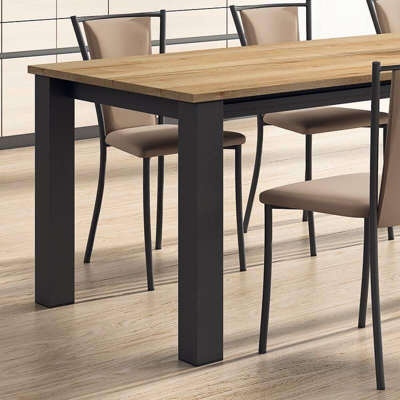 chaise de cuisine contemporaine en metal et synthetique reina