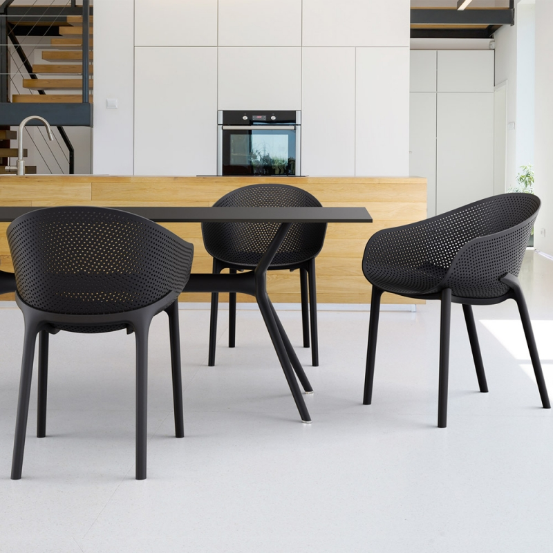 fauteuil design en polypropylene sky