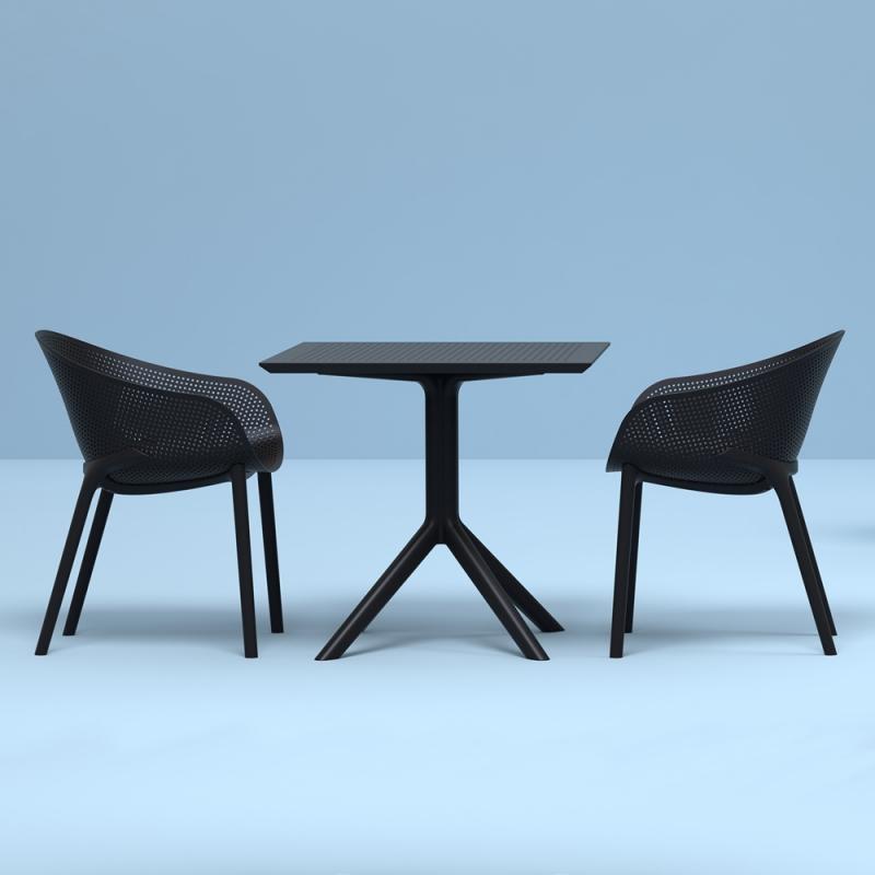 fauteuil de jardin design en polypropylene sky