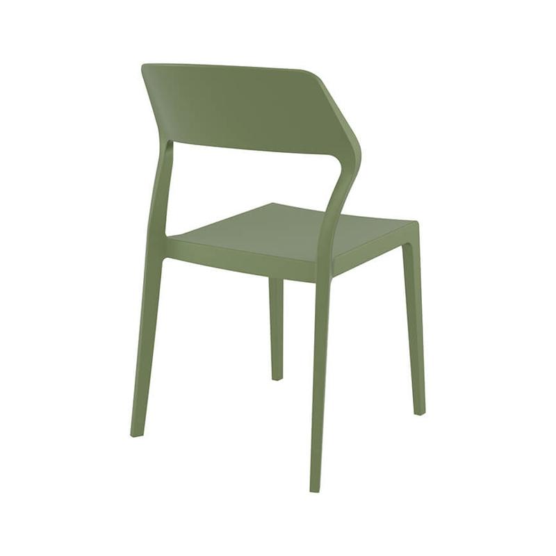 chaise d exterieur empilable design en polypropylene snow