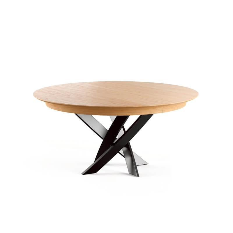table ronde extensible design de fabrication francaise elliptica