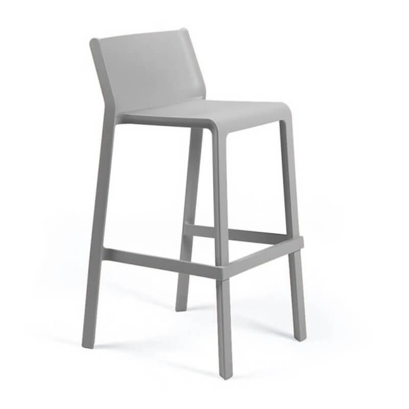 tabouret de bar de jardin empilable en polypropylene trill stool